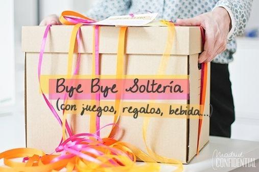 Caja Bye Bye soltería para organizar una despedida de soltera guay cuando no se tiene ni tiempo, ni mucho presupuesto.
