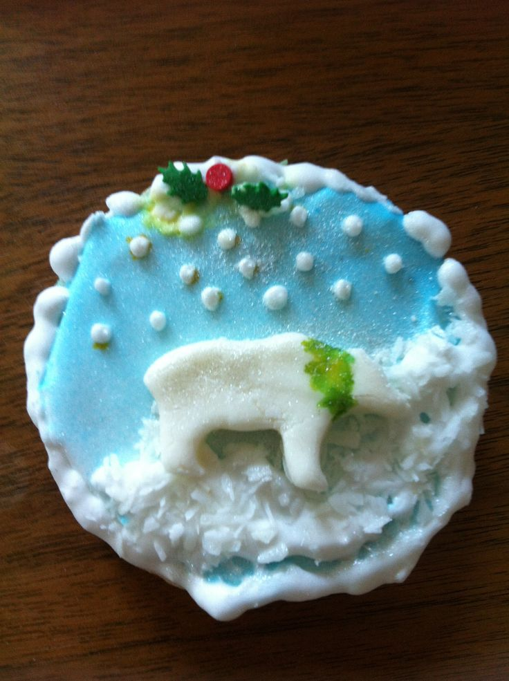 Painted Christmas cookie by Sharon V