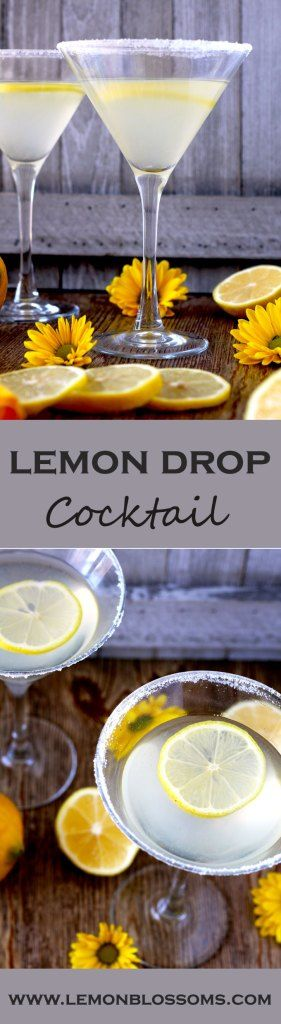 Lemony, sweet, sour and super easy to make. This Lemon Drop Cocktail is the perfect drink to enjoy any day!