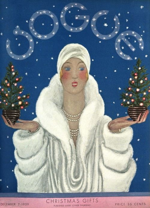 Holiday glam print - 1929 Vogue Cover, Georges LePape: