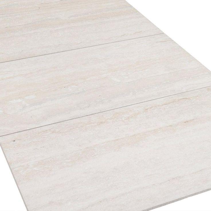 Travertini bianco porcelain tile 12in x 24in for Floor and decor porcelain tile