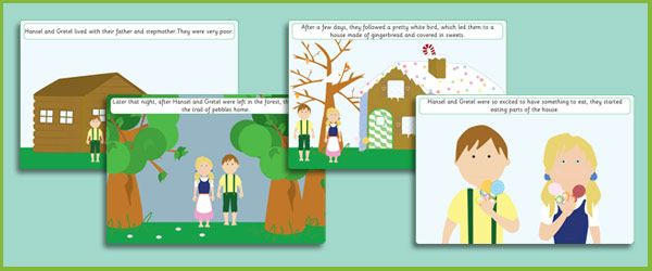 Hansel and Gretel Story Sequencing Cards: Sequences Cards