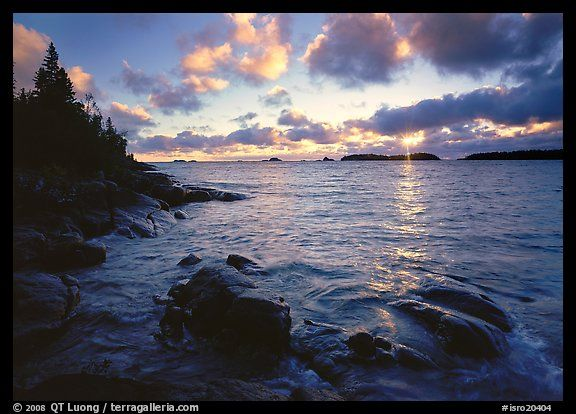 Coastline at sunrise in Isle Royale NP, Michigan