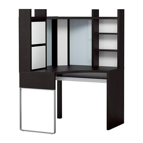 micke corner workstation ikea top shelf with a cable outlet creates efficient storage for a printer etc love this for rik living room corner by the