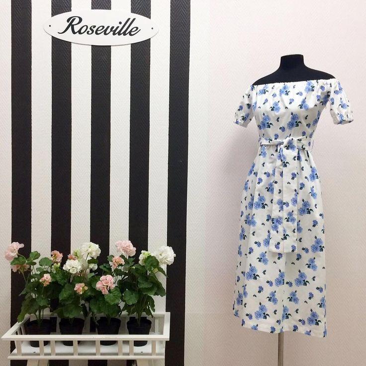 Новинки в Roseville 🌹 Платья-крестьянки с принтом в виде роз | #rosevillestyle