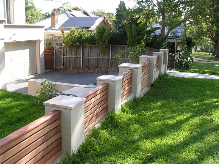 20 best images about fence ideas on pinterest concrete - Fence designs for front yards ...