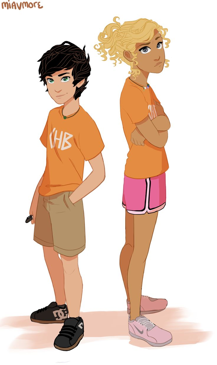 Haha I like how Annabeth is taller than Percy!