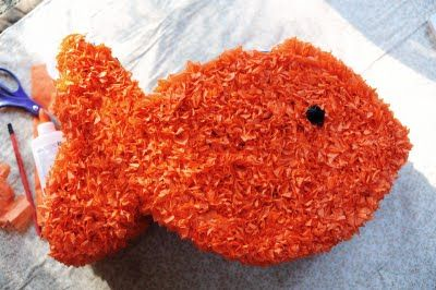 Rust & Sunshine: How to make a Goldfish Piñata