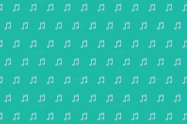 Music Seamless Pattern by DesignGodz on Creative Market