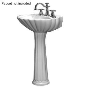 Pegasus Pedestal Sink : Pegasus Bali 19 in. Pedestal Lavatory Sink Combo for 8 in. Widespread ...