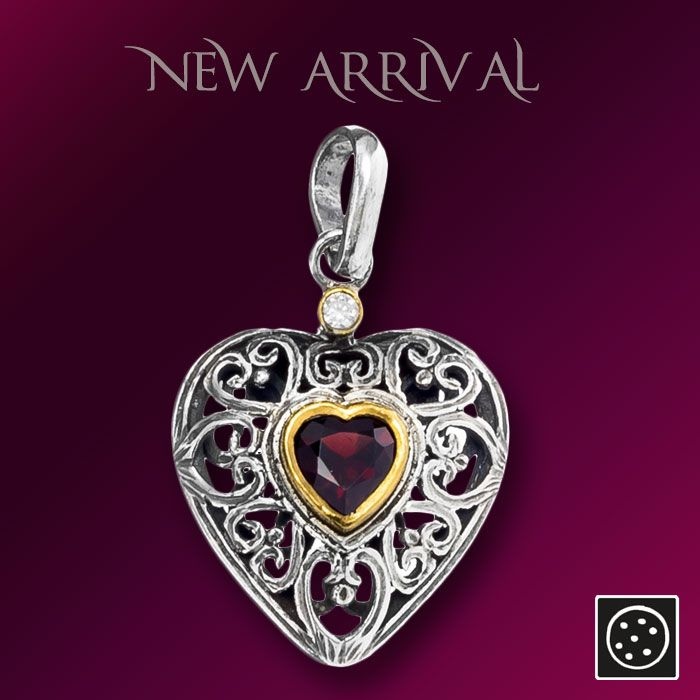 A new sterling silver heart pendant with gold accents and zircon gemstone. Check out the link for more details and join our newsletter to get your exclusive discount.