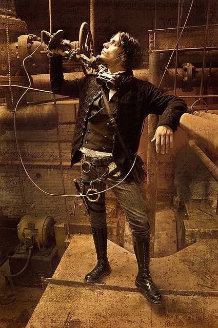Steampunk Gentleman. Not a fancy as a certain Victorian villain, but I do love seeing men wearing this style.