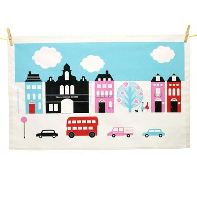Adorable London tea towel. Price £11.50Souvenirs Teas, Teas Towels, Tea Towels, Michele Mason, Call Teas, London Teas, British Teas, Products, Michelle Mason