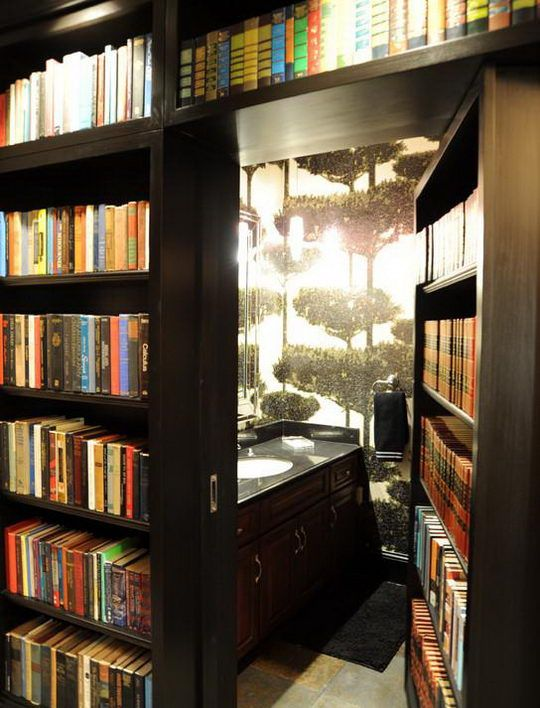 24 Beautiful and Cozy Home Library Ideas - OMG, I want the secret bookcase door!