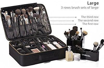 Portable EVA Makeup Case Professional Makeup Brush Sets Make Organizer Storage