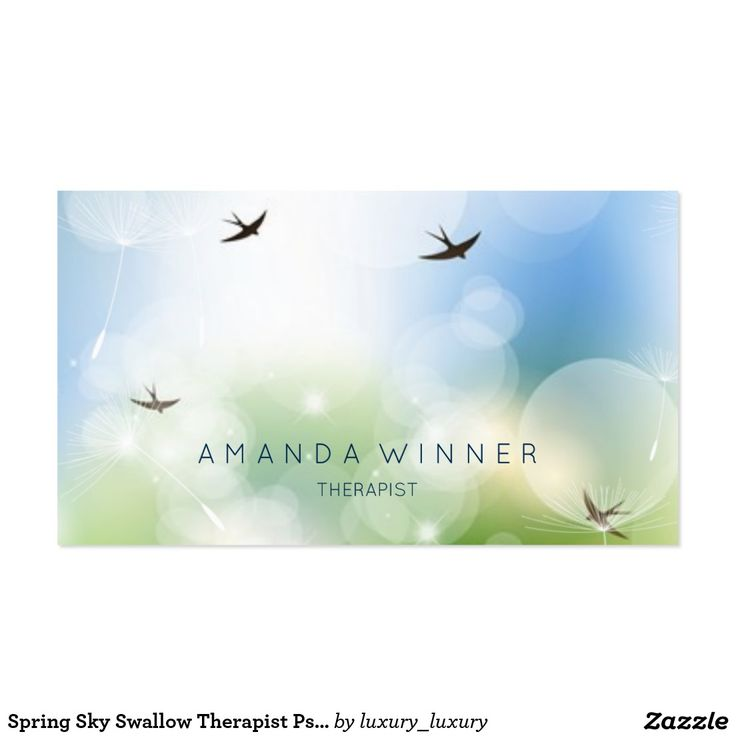 Spring Sky Swallow Therapist Psychologist Pack Of Standard Business Cards