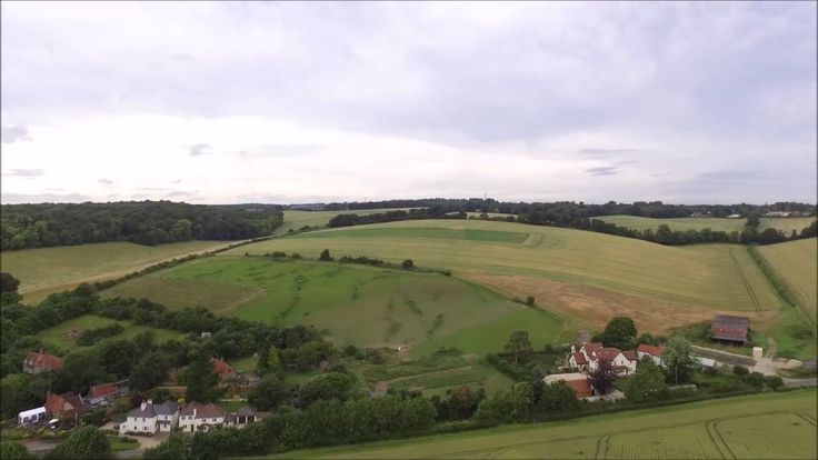 Flackwell Heath Fields from the air - YouTube