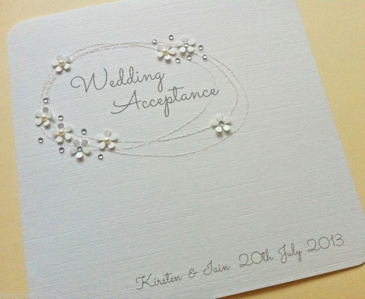 wedding acceptance cards - Google Search