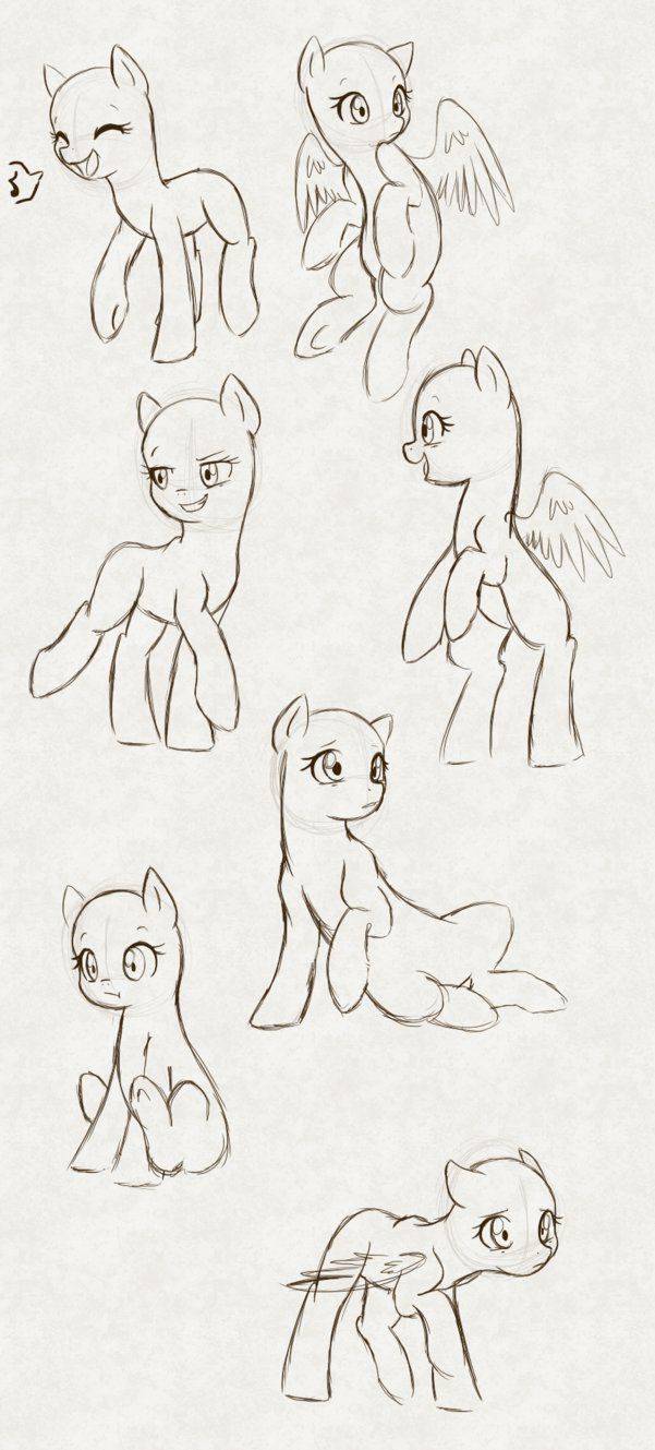 MLP Poses by hikariviny on DeviantArt