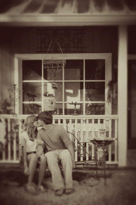 Front porch romance.