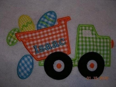 Neat Easter applique for little boys.