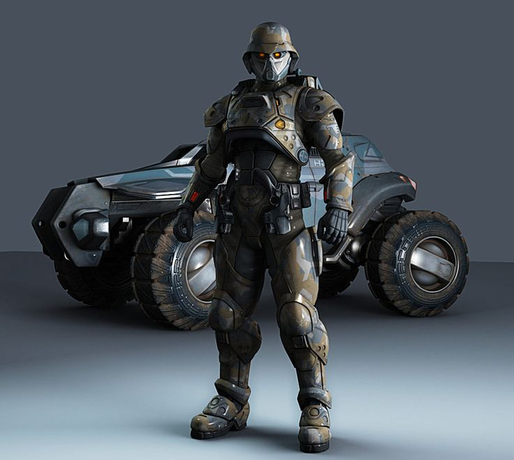 Futuristic Vehicle  Futuristic Soldiers  Military Robots  Art    Futuristic Robot Soldier