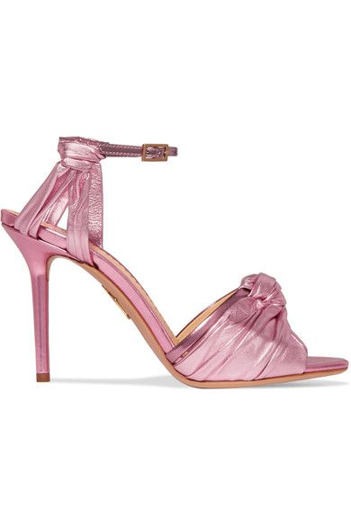 Charlotte Olympia | Broadway sandals in metallic look | NET-A-PORTER.COM