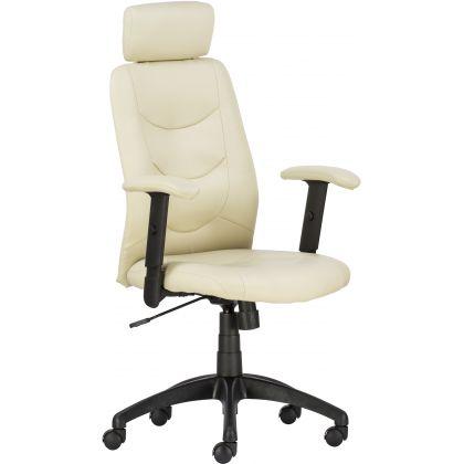 Philadelphia állítható karfás textilbőr vezetői fotel drapp - Irodai fotelek - Office Depot