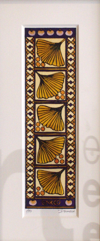 ORIGINAL Ginkgo Block Print Art - Arts & Crafts Ginkgo Leaf Design by PrairieBungalow on Etsy https://www.etsy.com/listing/127298574/original-ginkgo-block-print-art-arts