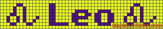 Alpha Friendship Bracelet Pattern #6174 - BraceletBook.com