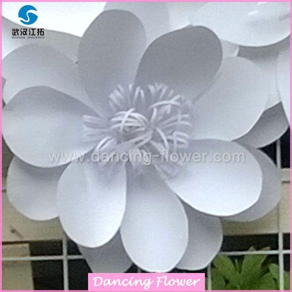 Decoration White Big Paper Flowers (WFAG-42)