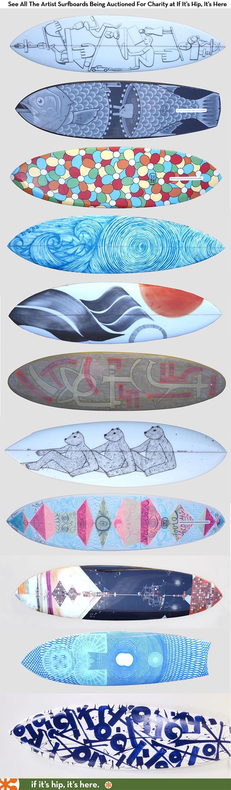 Different surfboards Diferentes tablas de surf