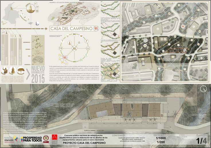 Primer Lugar en Concurso Casa del Campesino de Nuevo Gramalote / Colombia,Lámina 01. Image Courtesy of Equipo Primer Lugar