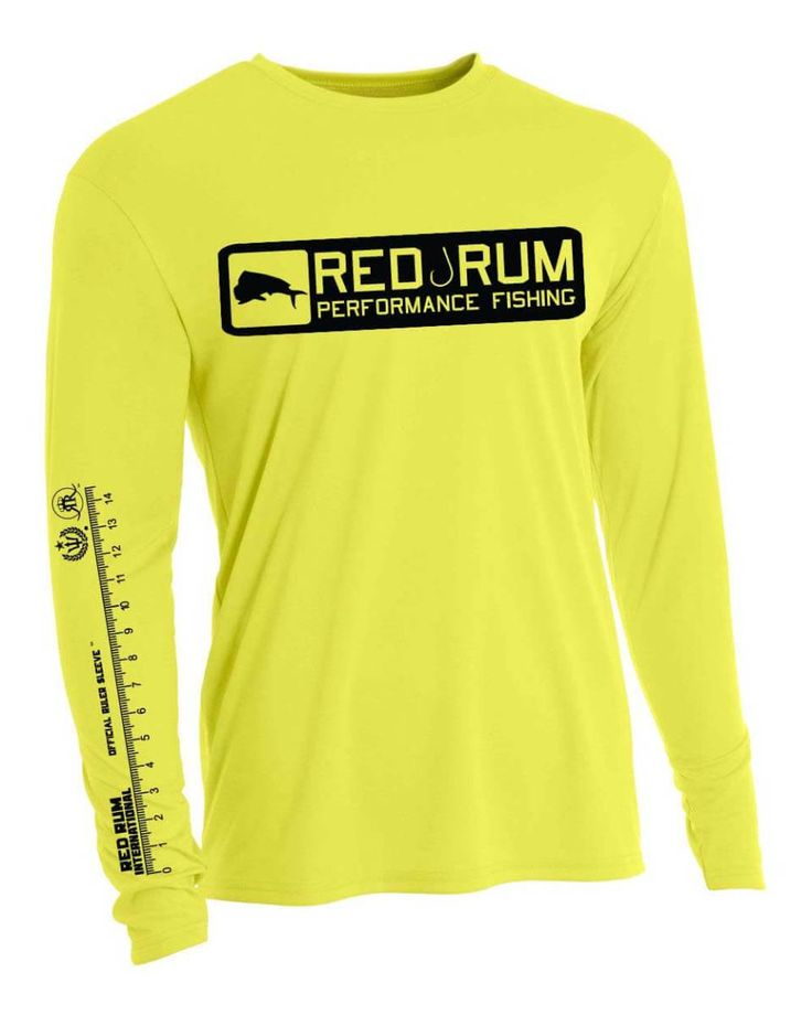 Ruler Sleeve Fishing Shirts - Yellow