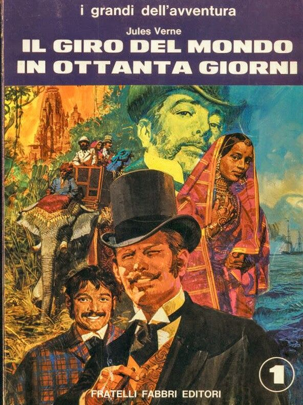 COVER BOOK by G.GAETA  Title: AROUND THE WORLD IN EIGHTY DAYS  1970 - Edition