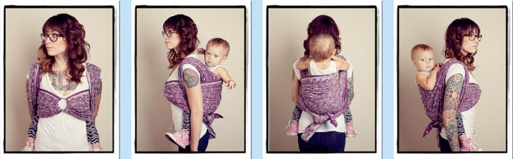 Wrapping 360: Mermaid Carry -I LOVE the look of this carry! Also great with a baby belly.