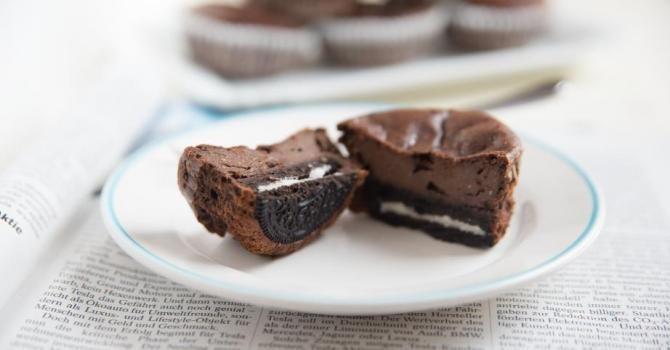 Recette de Moelleux au chocolat et aux cookies Oreo® sans beurre ni huile. Facile et rapide à réaliser, goûteuse et diététique.
