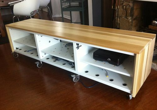 Really detailed Ikea hack tv cabinet (to adapt for audiovisual equipment)