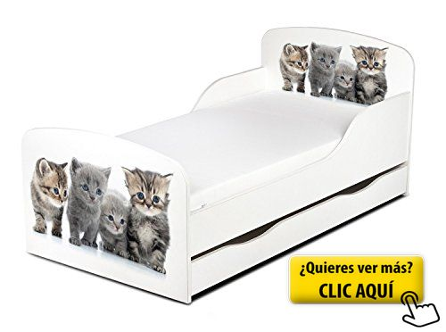 Cama para niños, con un colchón 140/70 cm y el... #cama