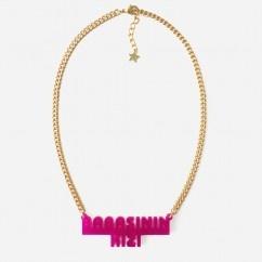 Babasının Kızı Pembe Kolye - #tasarim #tarz #pembe #moda #nishmoda #pink #design #designer #fashion #trend