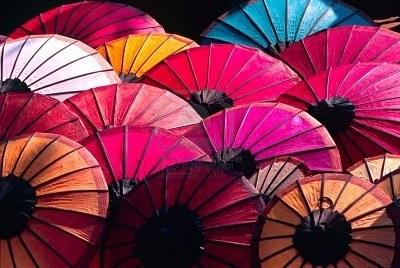 Umbrellas for Sale. Laos