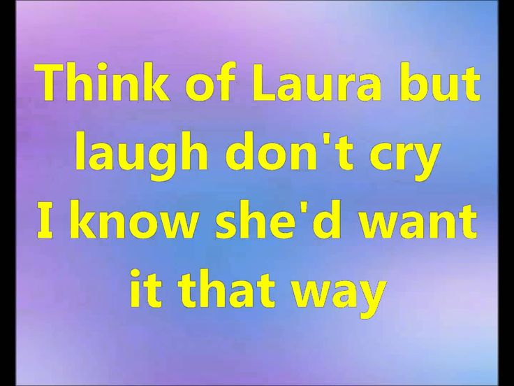 THINK OF LAURA   Christopher Cross [Karaoke Standard Version]