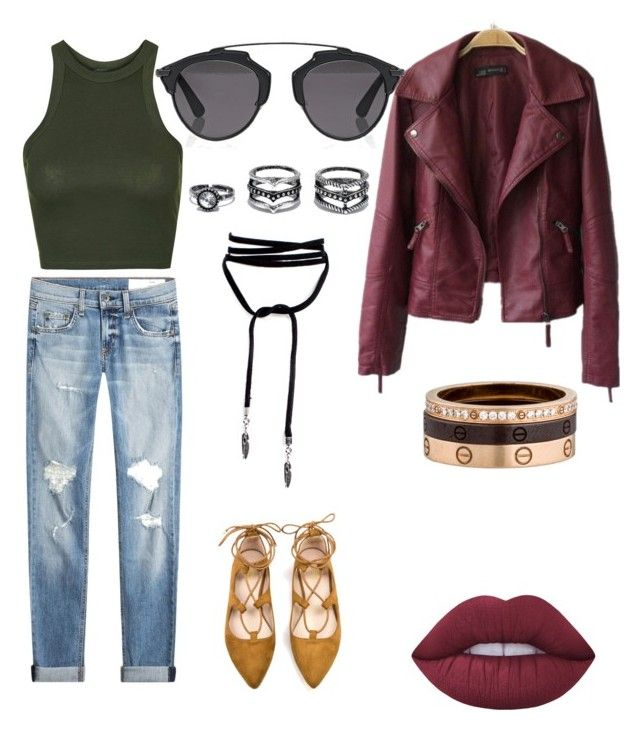 slay by alexandra-almanza on Polyvore featuring polyvore Lime Crime Cartier Christian Dior rag & bone Topshop Lulu*s men's fashion menswear clothing
