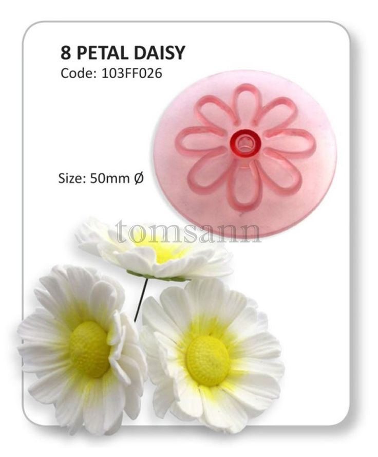 PME Set of 4 FLOWER BLOSSOM Plastic Icing Cut Out Plunger Cutter Sugarcraft Cake