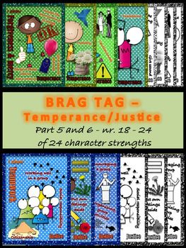 Brag tags - Temperance and Justice - 24 character strengths