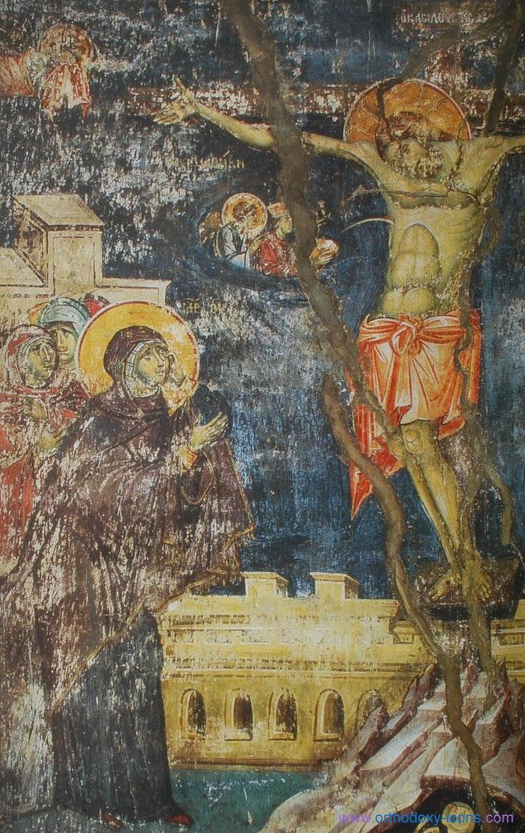 The frescoes of the cathedral Protata in Kars, Athos. - Manuel Panselina. Part IV