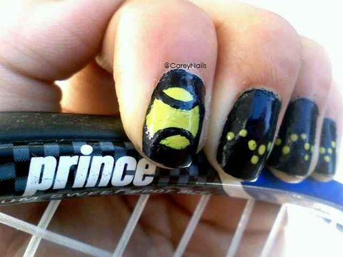 10 best tennis nails images on pinterest nail art nail designs tennis nails prinsesfo Image collections