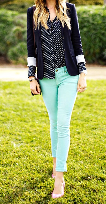 Stitch fix stylist-I just bought denim jeans in this shade and would love something like these tops to go with it.