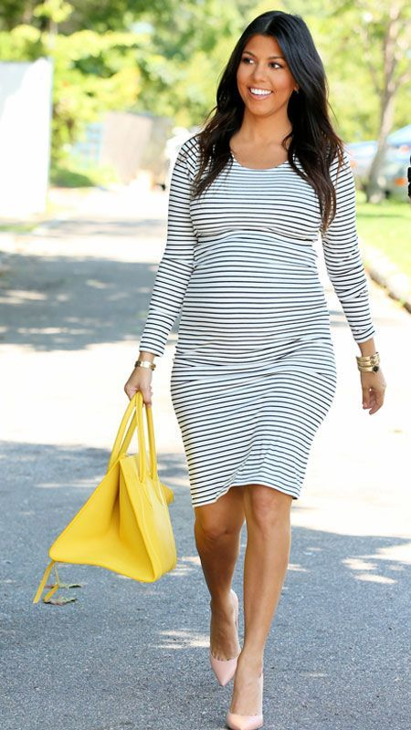 Chic Celebrity Maternity Style - Kourtney Kardashian, August 14, 2014 from #InStyle