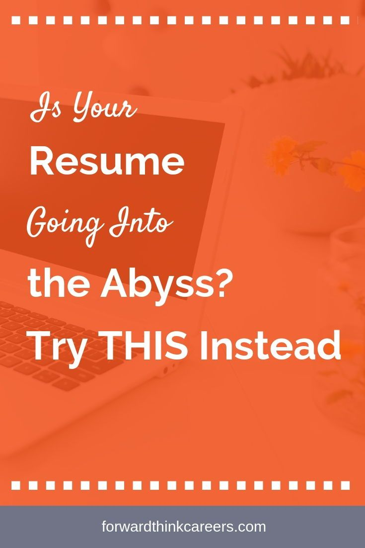 Resume Going Into The Abyss Resume Advice Resume Tips Job Interview Tips